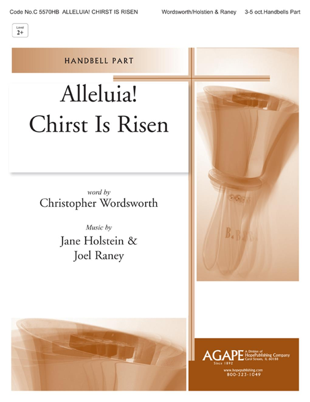 Alleluia Christ Is Risen - SATB w-opt. 2 B-flat Trumpets and Handbells Cover Image