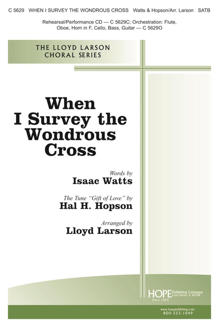 When I Survey the Wondrous Cross - SATB Cover Image