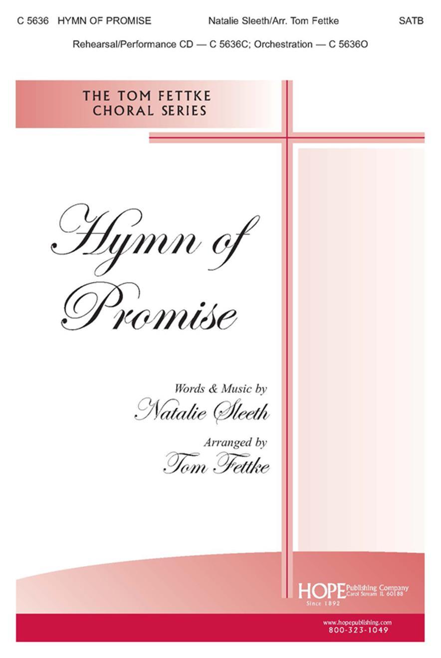 Hymn of Promise - Arr. Fettke - SATB Cover Image