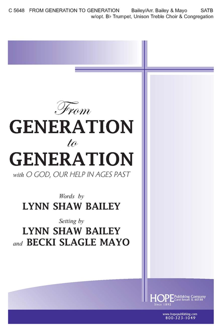From Generation to Generation - SATB Cover Image