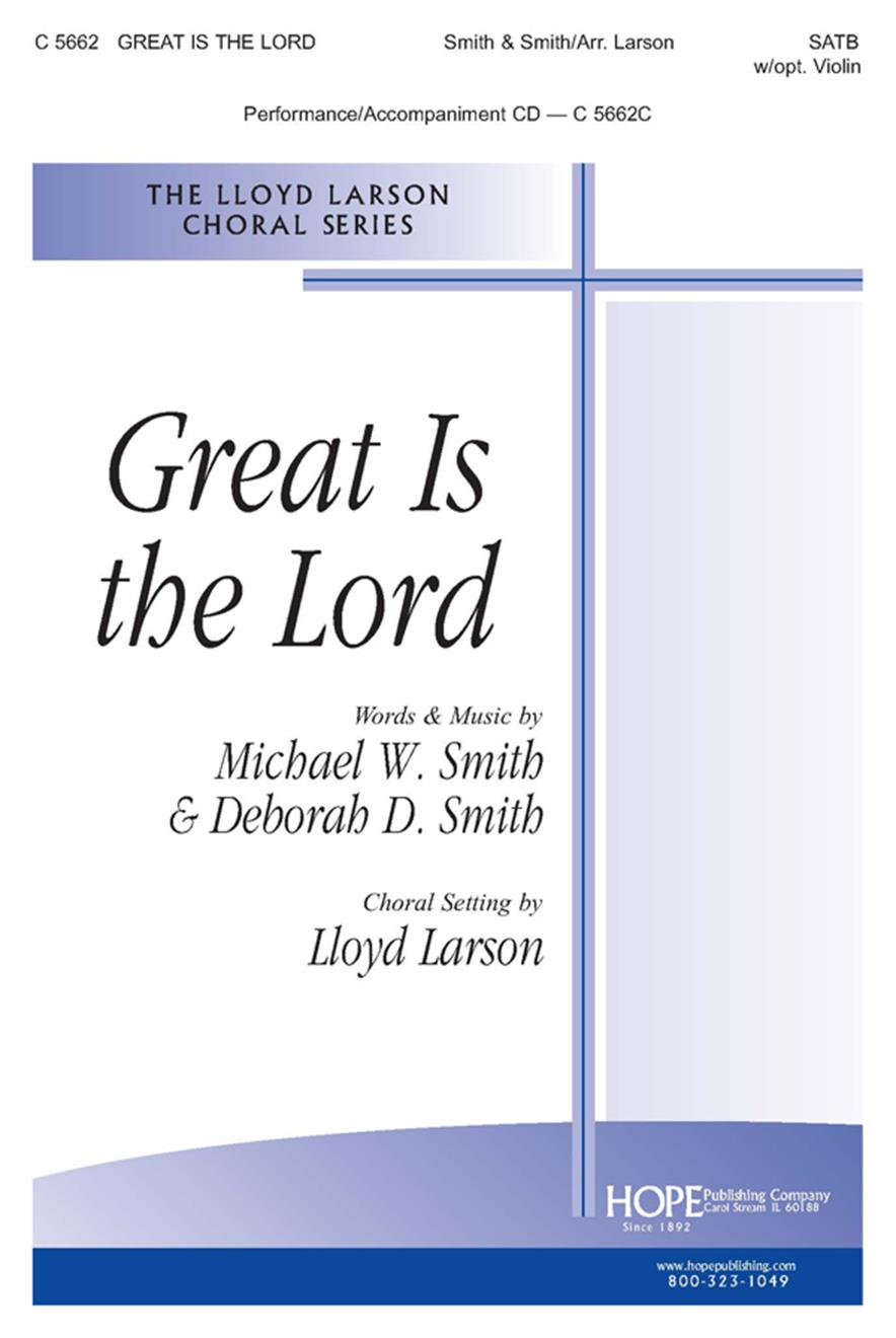 Great Is the Lord - SATB w-opt. Violin Cover Image