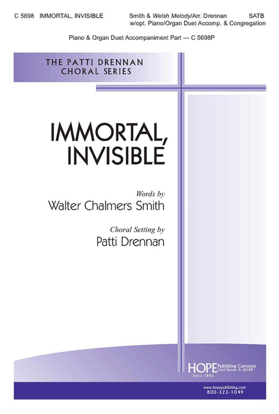 Immortal Invisible - SATB w-opt. Cong. Cover Image