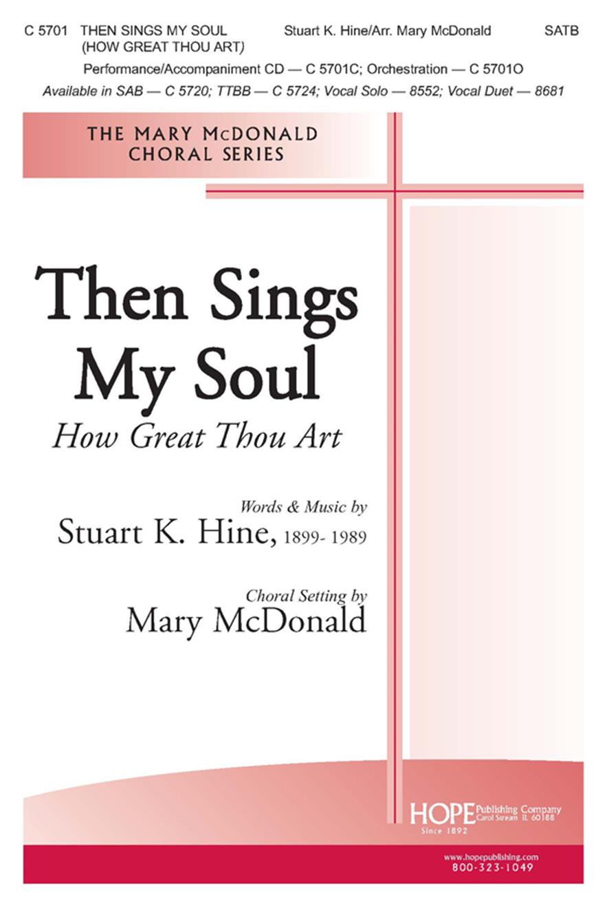 Then Sings My Soul (How Great Thou Art) - SATB Cover Image