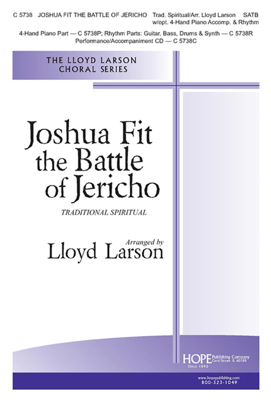 Joshua Fit the Battle of Jericho - SATB w-opt. 4-hand Piano and Rhythm Cover Image