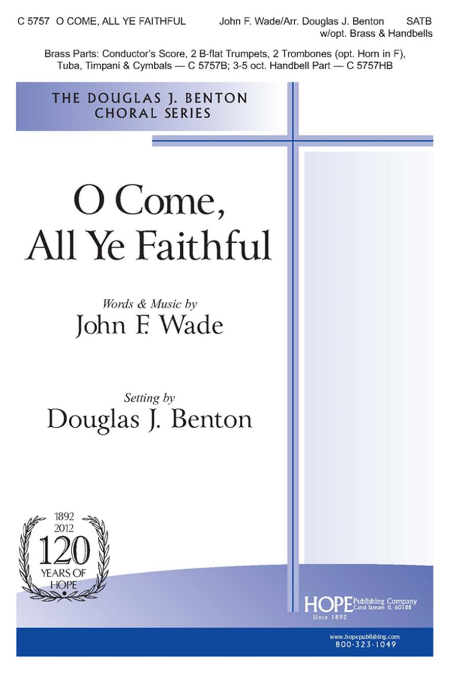 O Come All Ye Faithful - SATB w-opt. Brass and Handbells Cover Image