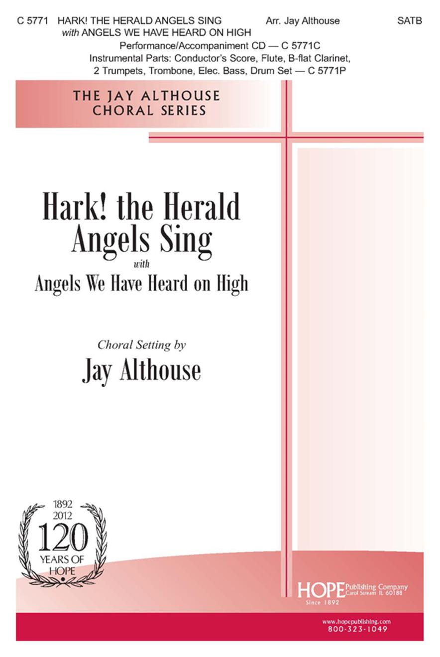 Hark the Herald Angels Sing w-Angels We Have Heard on High - SATB Cover Image