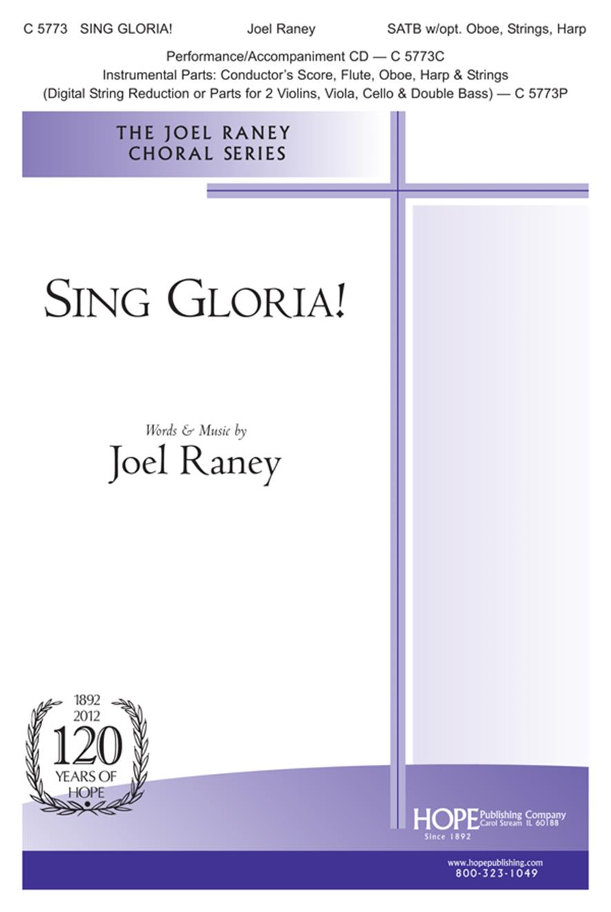 Sing Gloria - SATB w-opt. Oboe Strings and Harp Cover Image