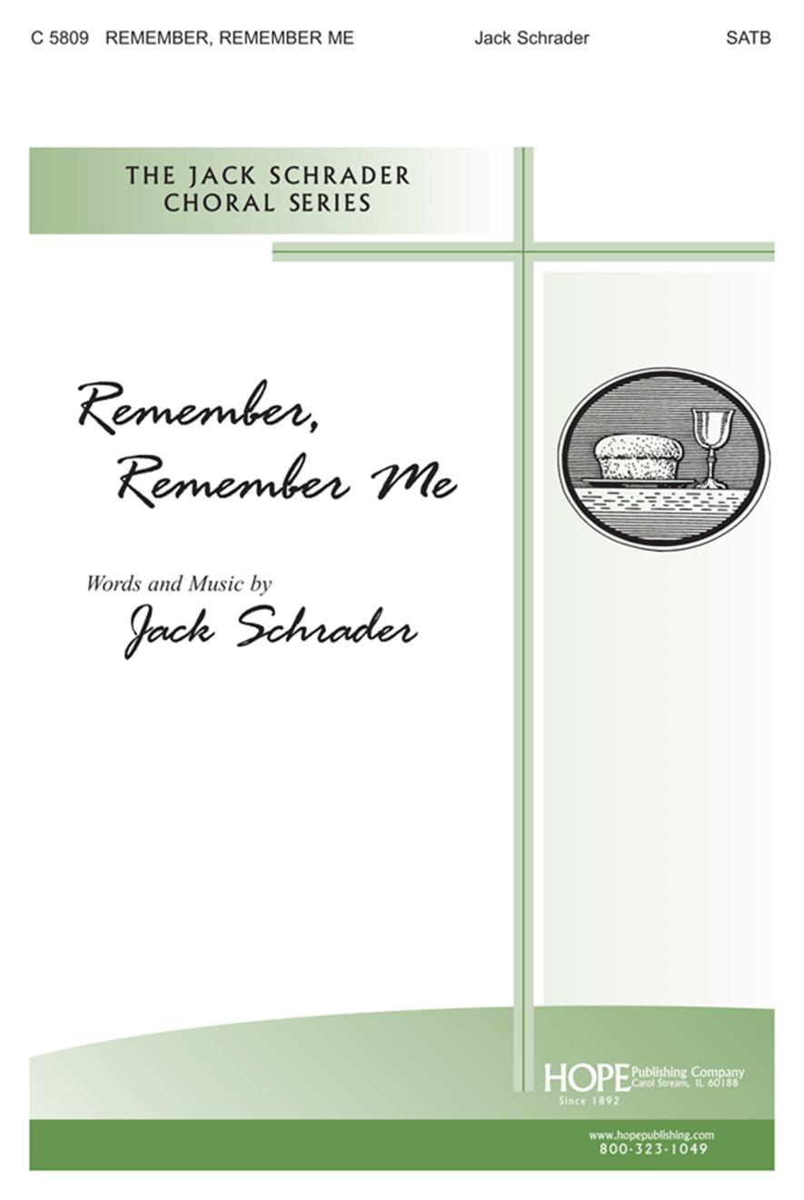 Remember Remember Me - SATB Cover Image