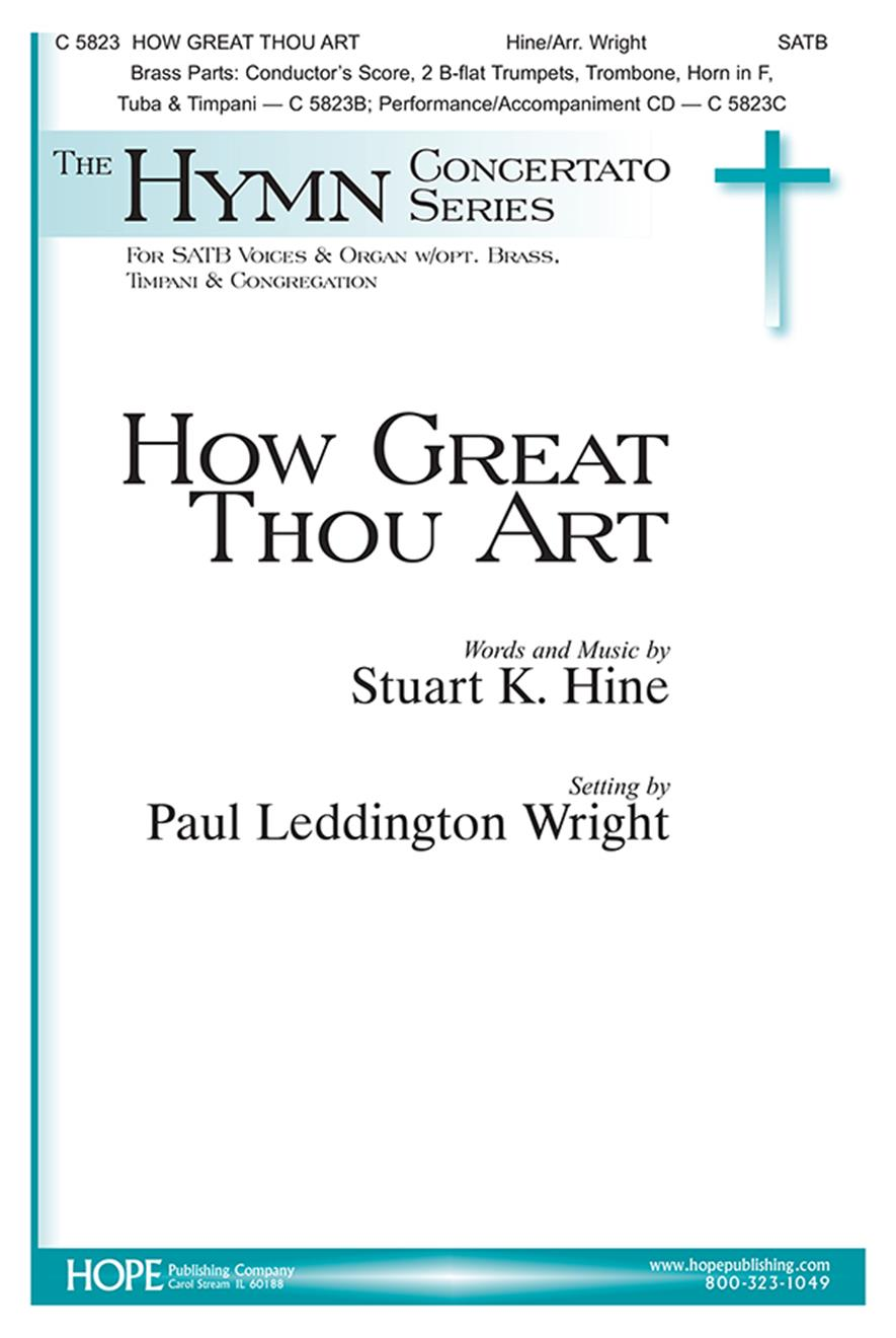 How Great Thou Art - SATB w-opt. Brass and Timpani Cover Image