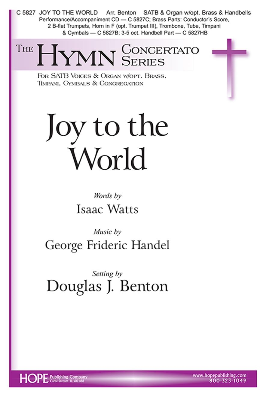 joy to the world for satb choir congregation trumpet and keyboard