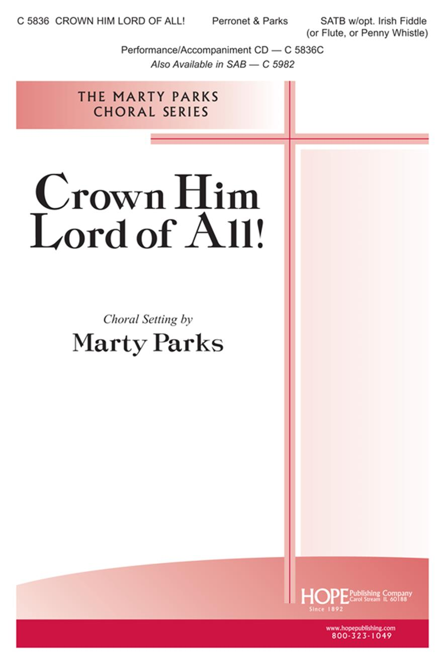 Crown Him Lord of All - SATB w-opt. Instr. Parts Cover Image