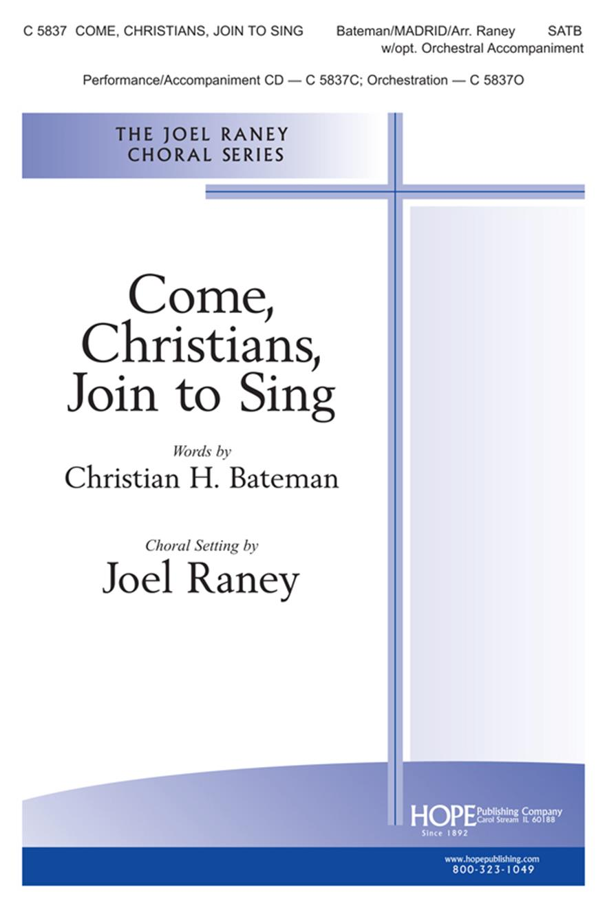 Come Christians Join to Sing - SATB Cover Image