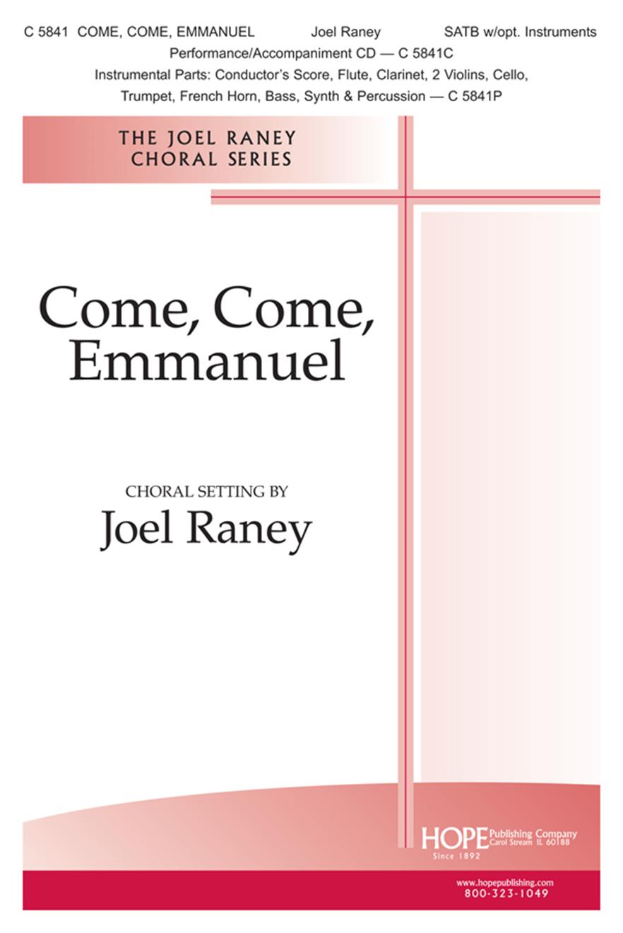Come Come Emmanuel - SATB w-opt. Instruments Cover Image