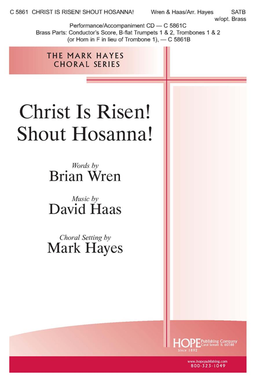 Christ Is Risen Shout Hosanna - SATB w-opt. Brass Cover Image