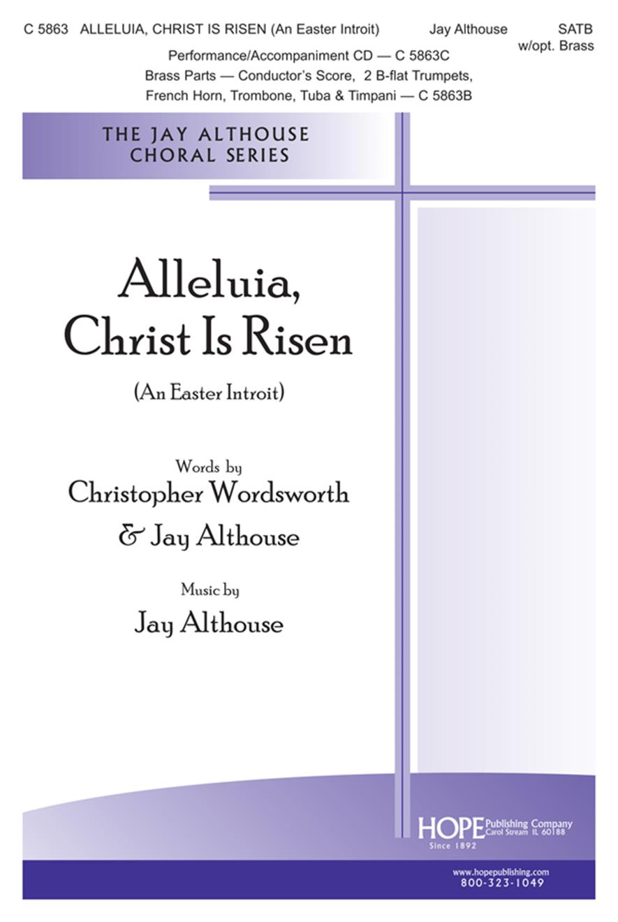 Alleluia Christ Is Risen (An Easter Introit) - SATB w-opt. brass Cover Image