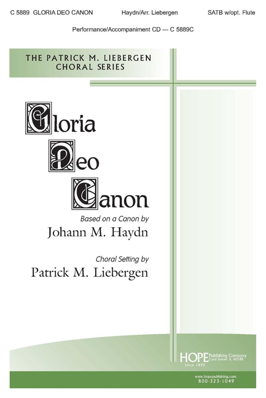 Gloria Deo Canon - SATB w-opt. Flute (included) Cover Image
