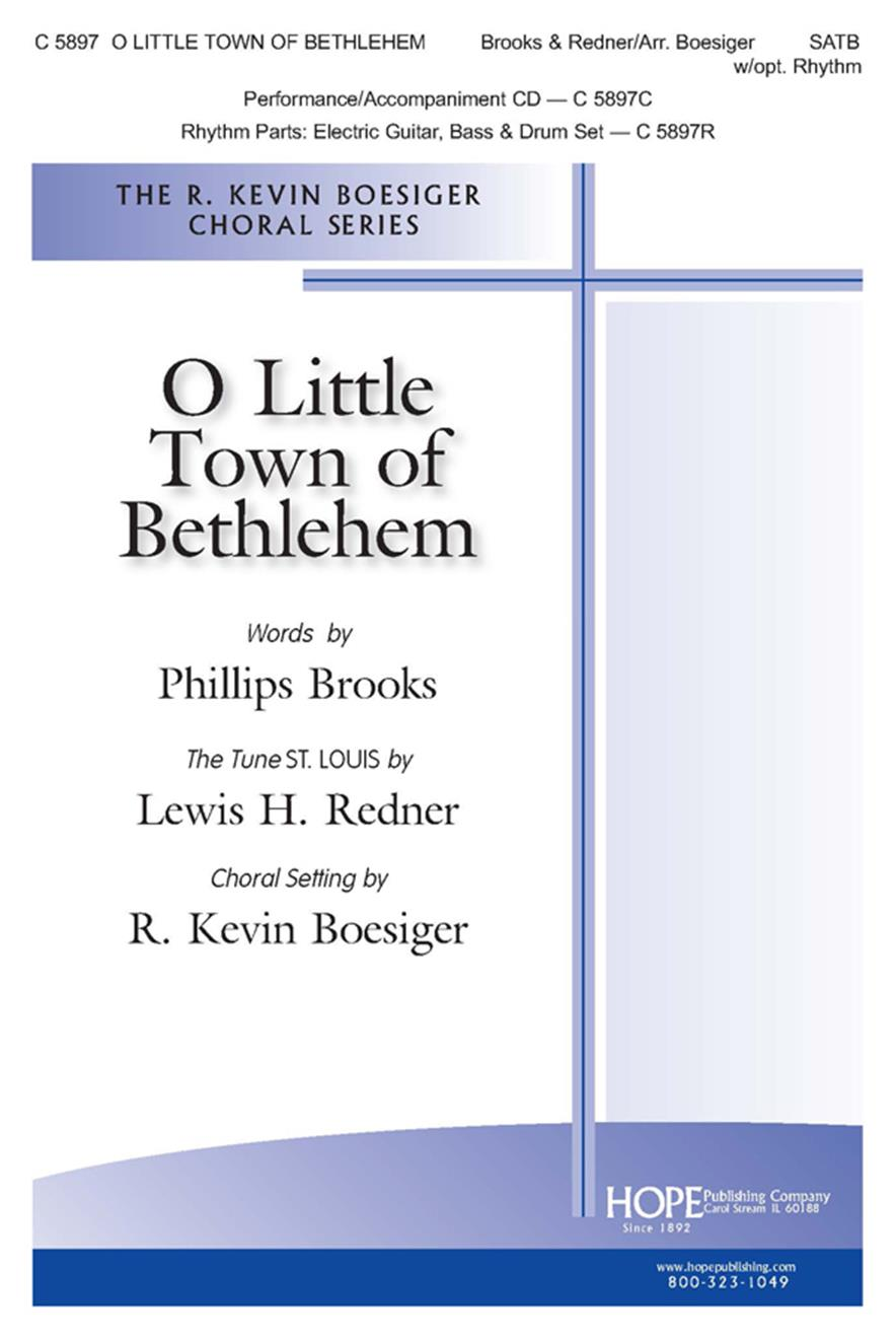 O Little Town of Bethlehem - SATB w-opt. Rhythm Cover Image