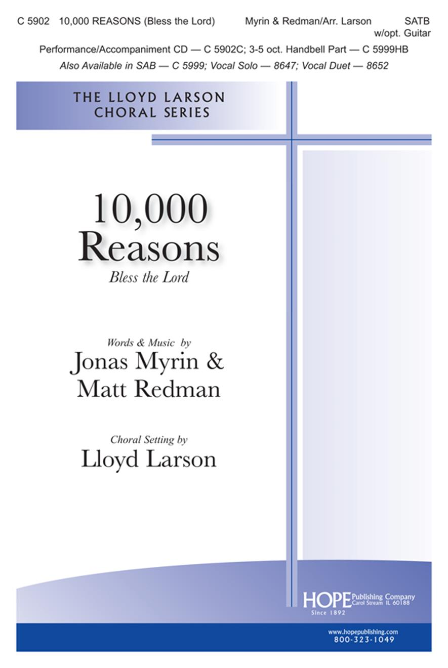 10000 Reasons (Bless the Lord) - SATB w-opt. Guitar and Bells Cover Image