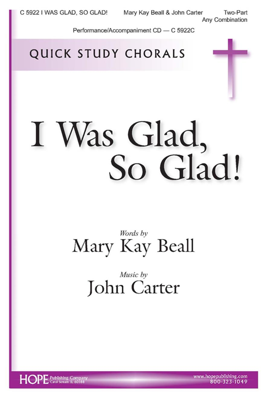 I Was Glad So Glad - 2-Part Cover Image
