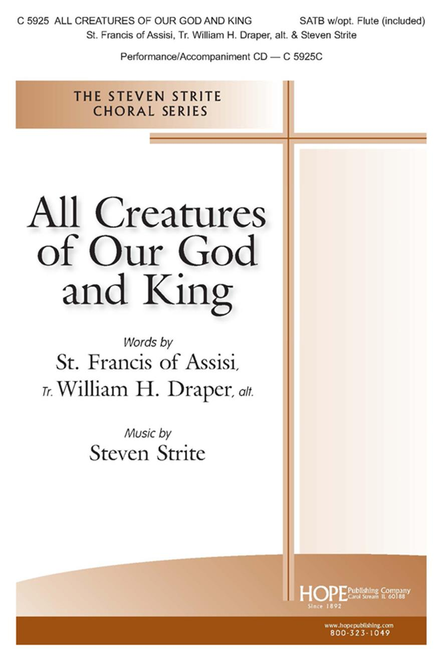 All Creatures of Our God and King - SATB w-opt Flute (included) Cover Image