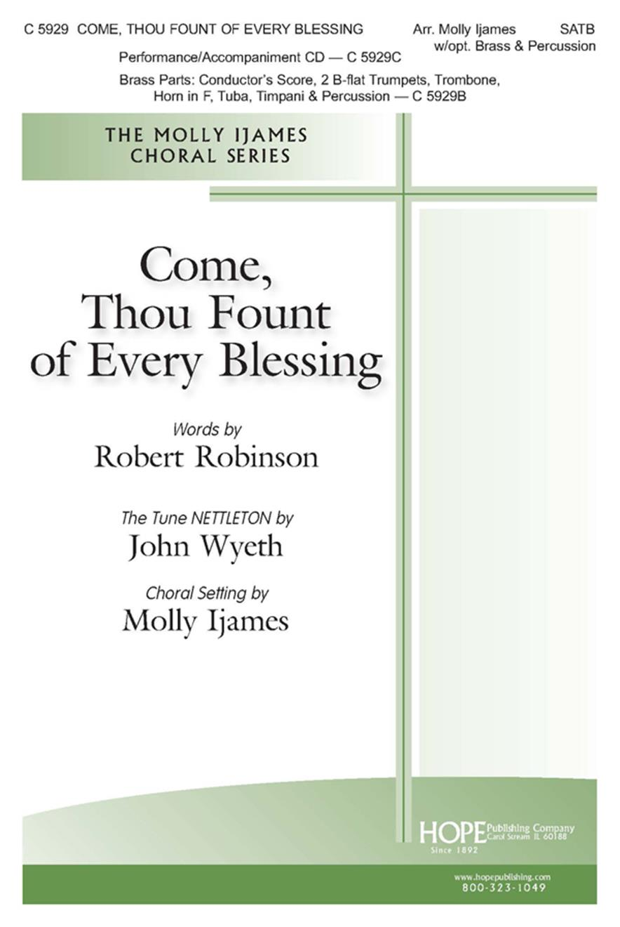 Come Thou Fount of Every Blessing - SATB w-opt. Brass and Percussion Cover Image