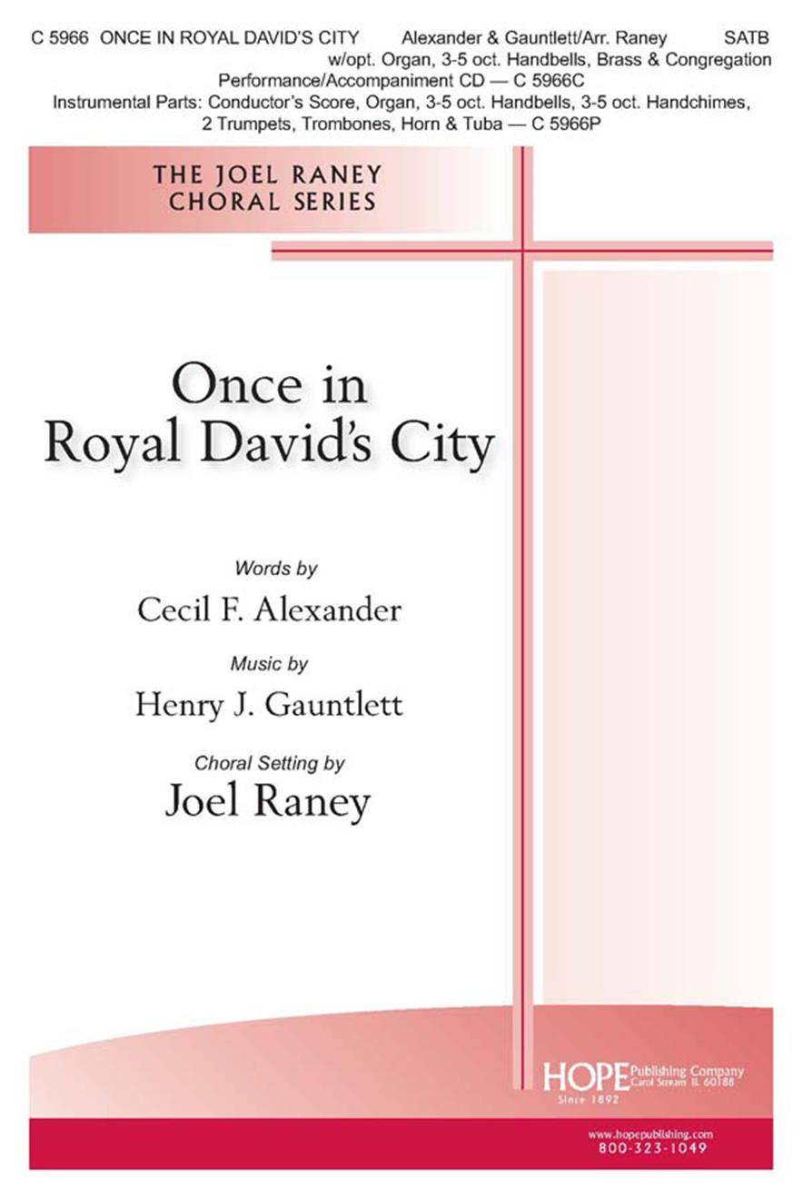 Once in Royal David's City - SATB w-opt. Organ 3-5 oct. Handbells Brass and Cong Cover Image