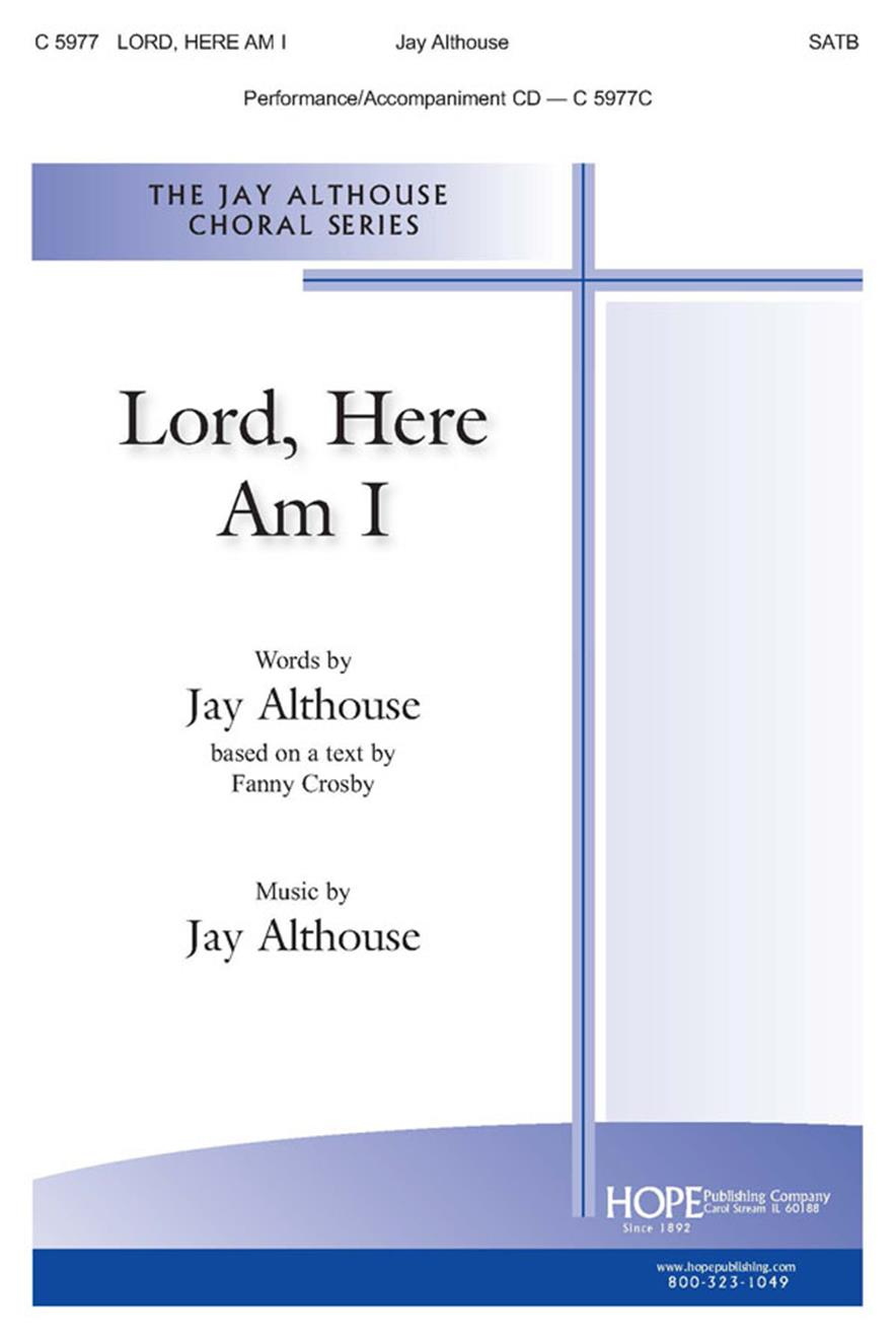 Lord Here Am I - SATB Cover Image