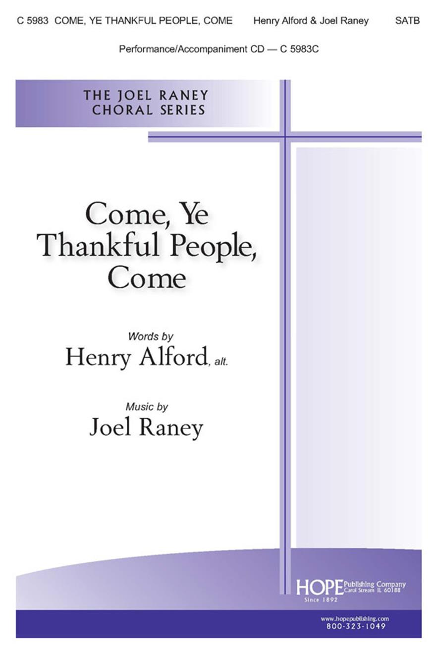 Come Ye Thankful People Come - SATB Cover Image