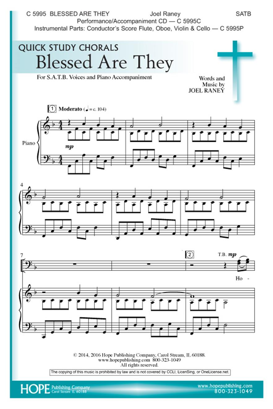 Blessed Are They - SATB Cover Image
