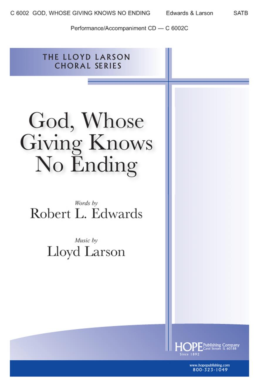 God Whose Giving Knows No Ending - SATB Cover Image