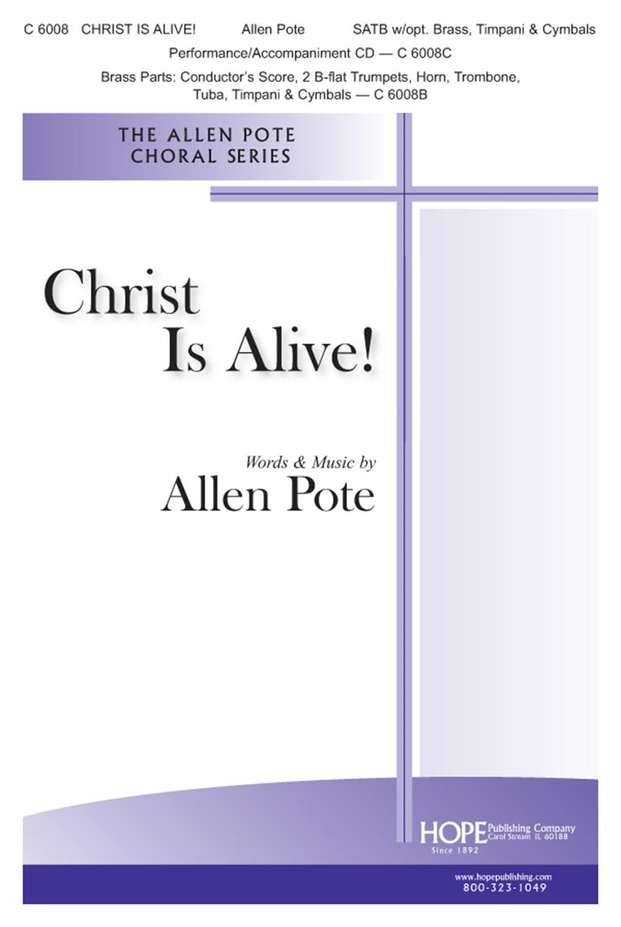 Christ Is Alive - SATB w-opt. Brass Timpani and Cymbals Cover Image