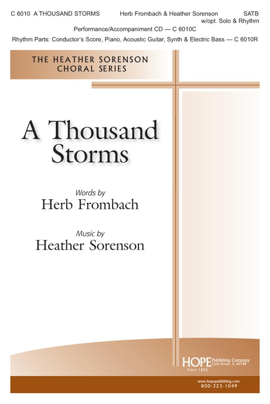 Thousand Storms A - SATB w-opt. Solo and Rhythm Cover Image