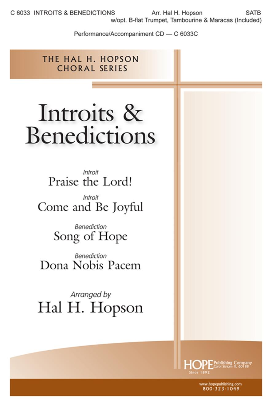 Introits and Benedictions - SATB w-opt. Trumpet Tambourine and Maracas (included) Cover Image