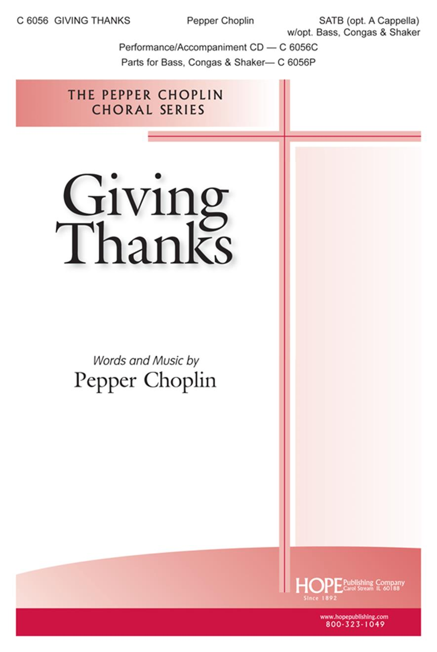 Giving Thanks - SATB (opt. a cappella) w-opt. Bass and Drums Cover Image