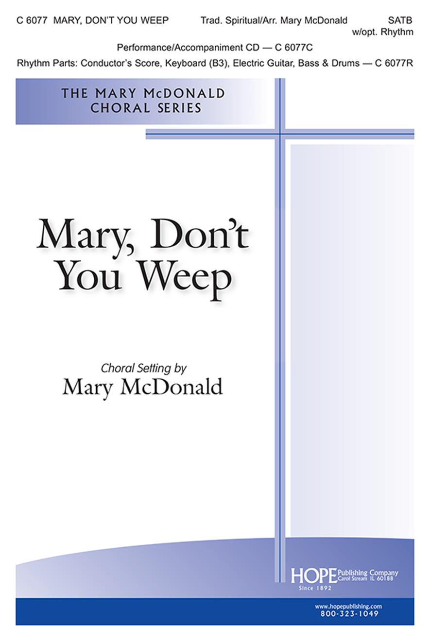 Mary Don't You Weep-SATB Cover Image