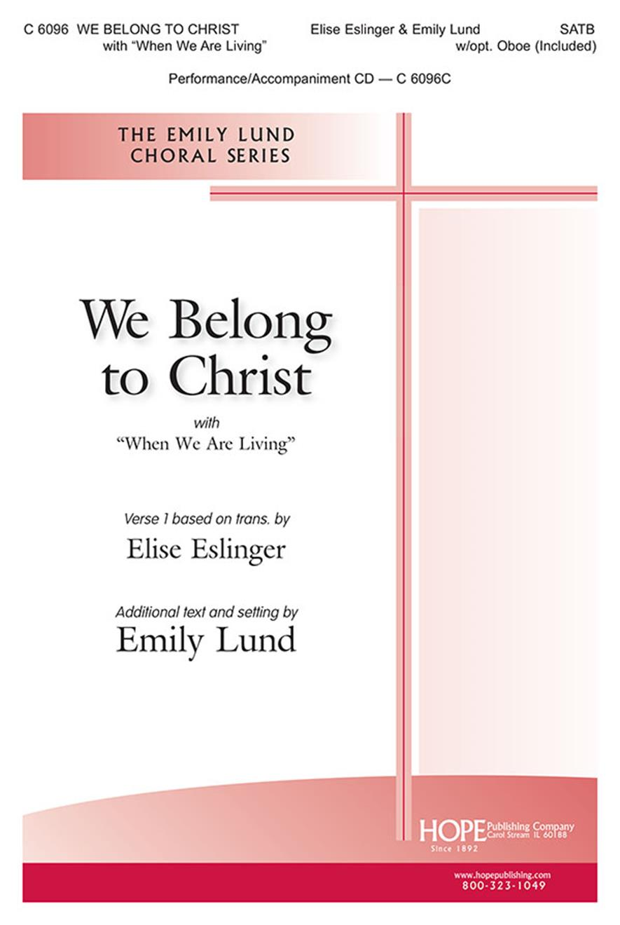 We Belong to Christ - SATB Cover Image