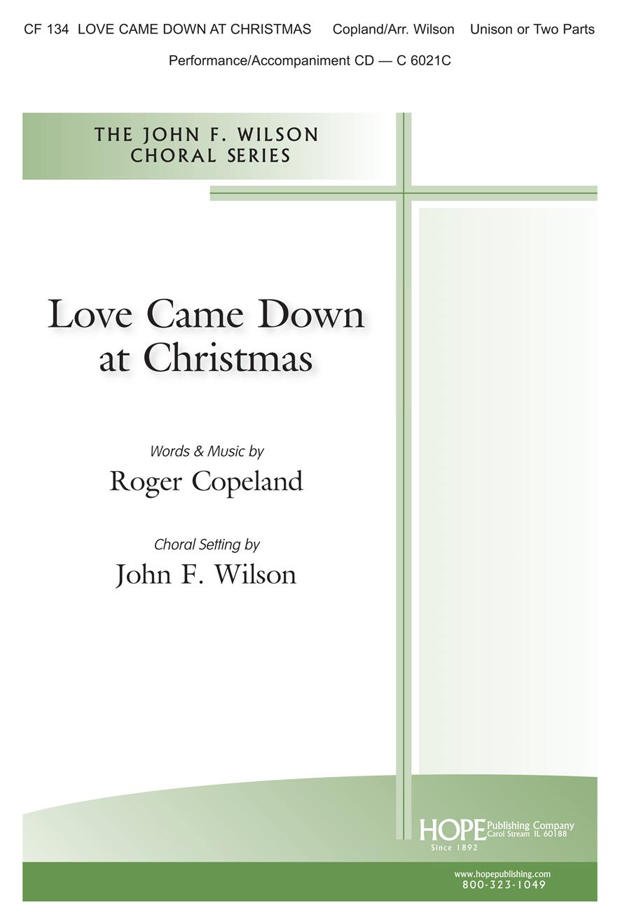 Love Came Down at Christmas - Unison Cover Image