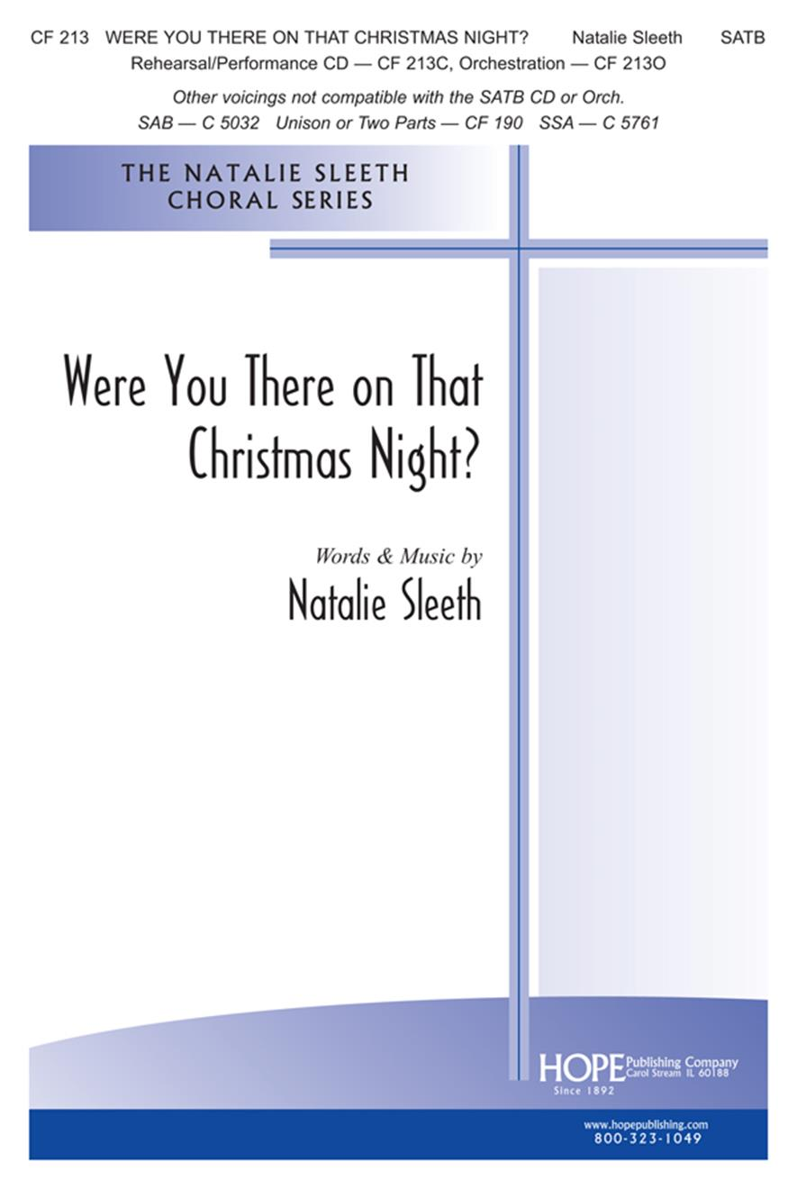 Were You There on That Christmas Night - SATB Cover Image