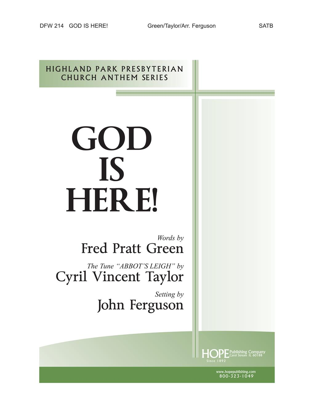 God Is Here - SATB and Congregation Cover Image