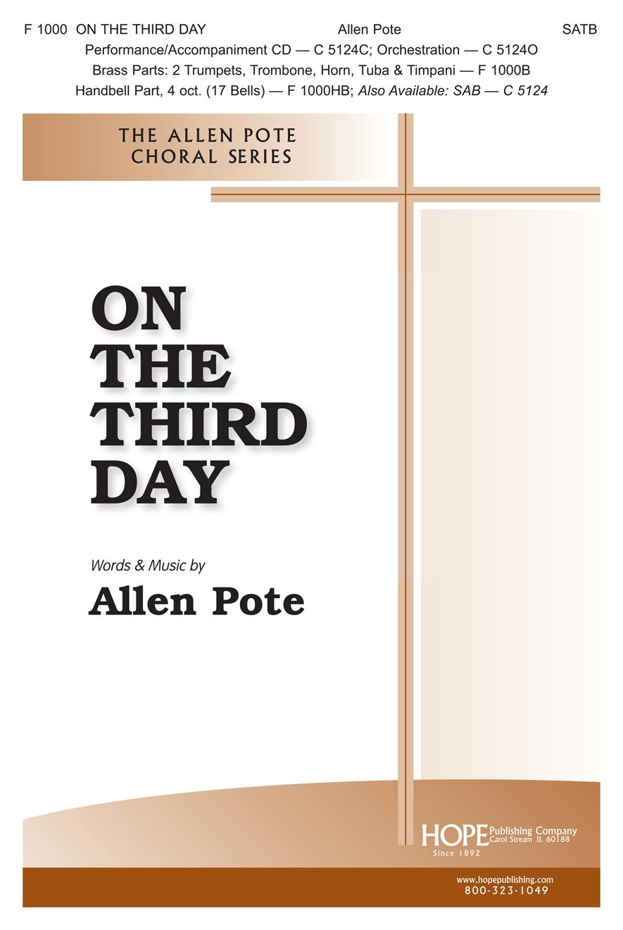 On the Third Day - SATB Cover Image