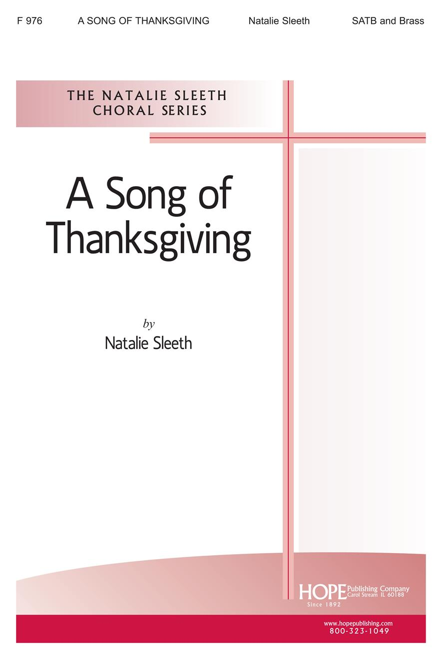 Song of Thanksgiving A - SATB Cover Image