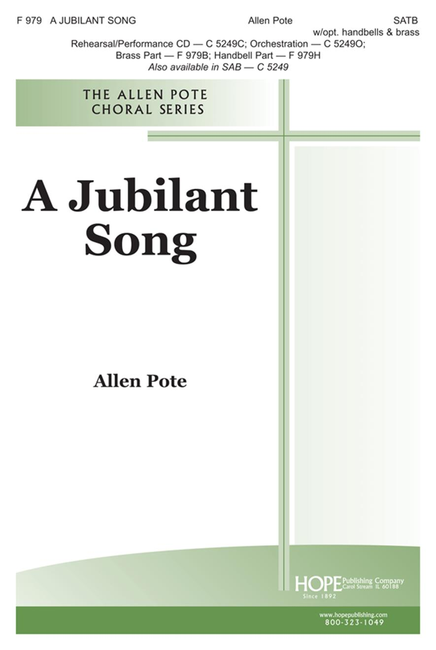 Jubilant Song A - SATB Cover Image