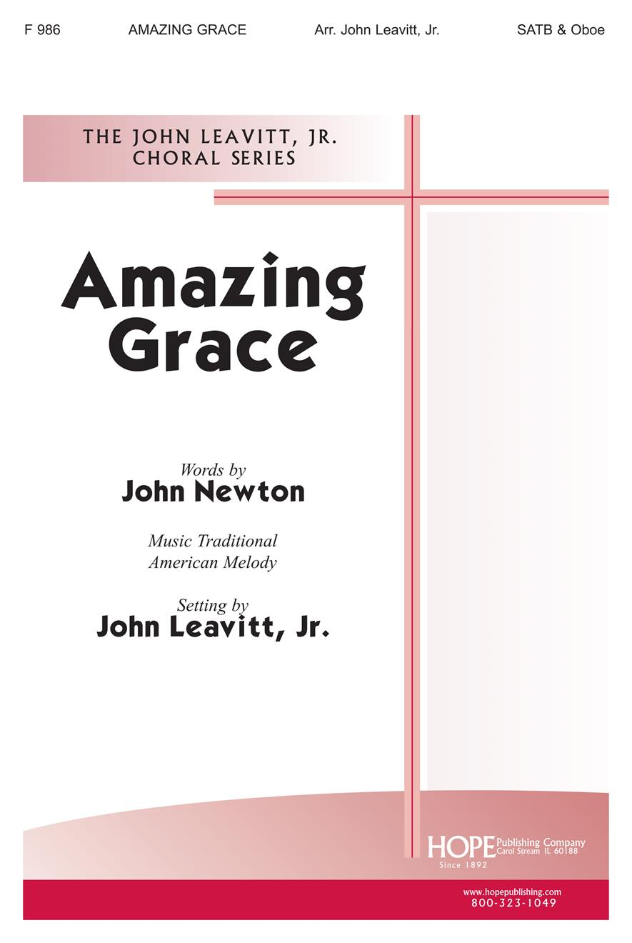 Amazing Grace - SATB and Oboe Cover Image