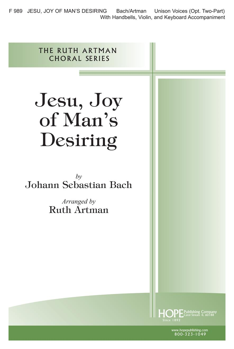 Jesu Joy of Man's Desiring - Unison or Two Part and 2-oct. Handbells Cover Image
