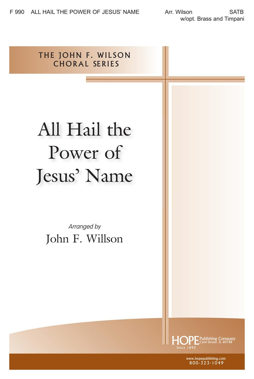 All Hail the Power of Jesus' Name - SATB Cover Image