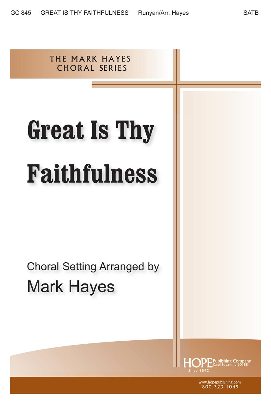 Great Is Thy Faithfulness - SATB Cover Image