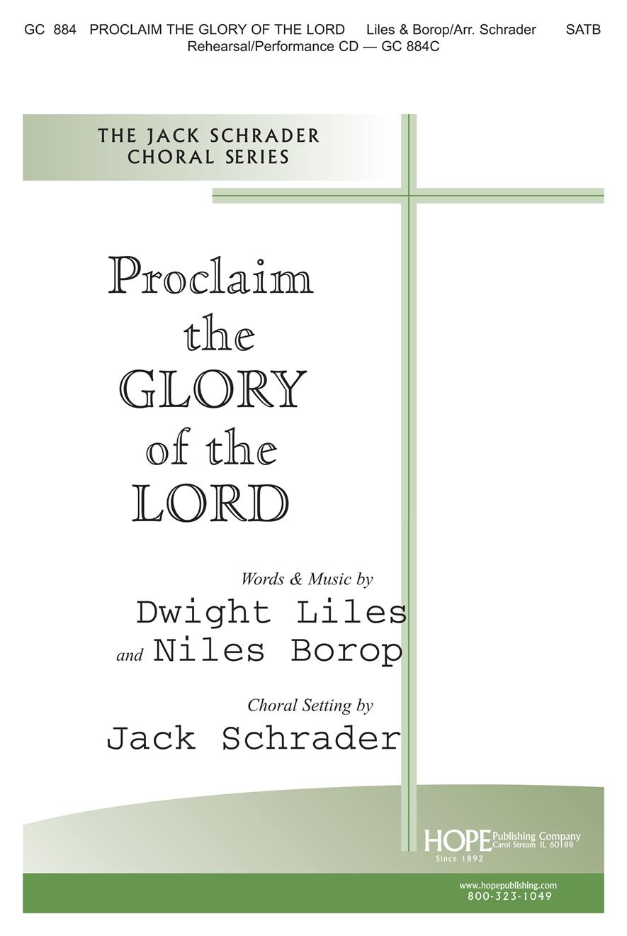 Proclaim the Glory of the Lord - SATB Cover Image