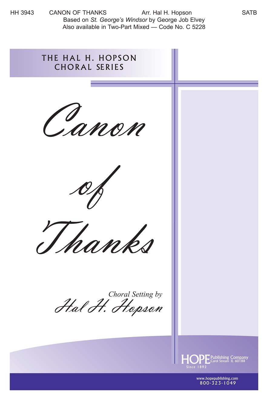 Canon of Thanks A - SATB Cover Image