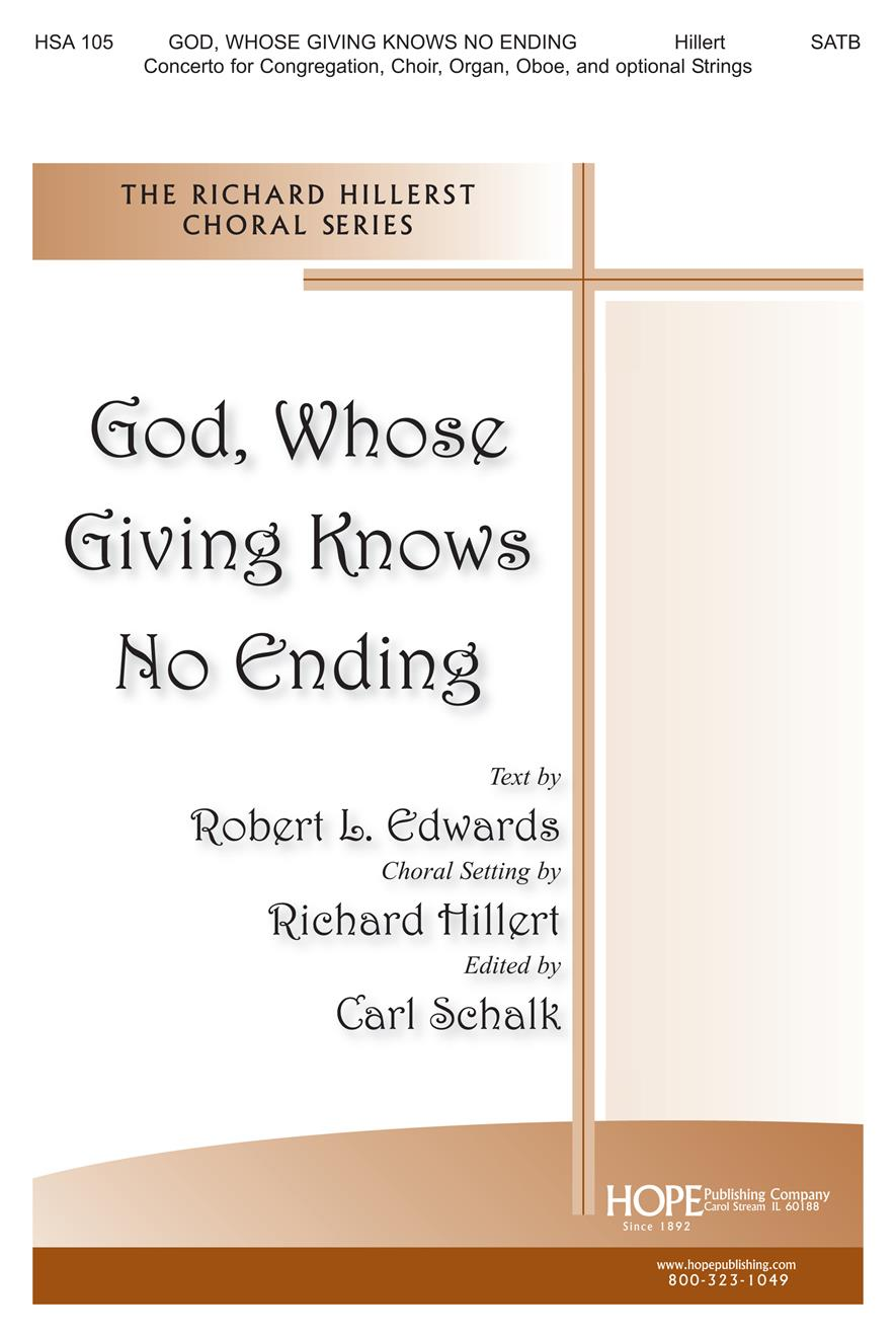 God Whose Giving Knows No Ending - SATB and Congregation Cover Image