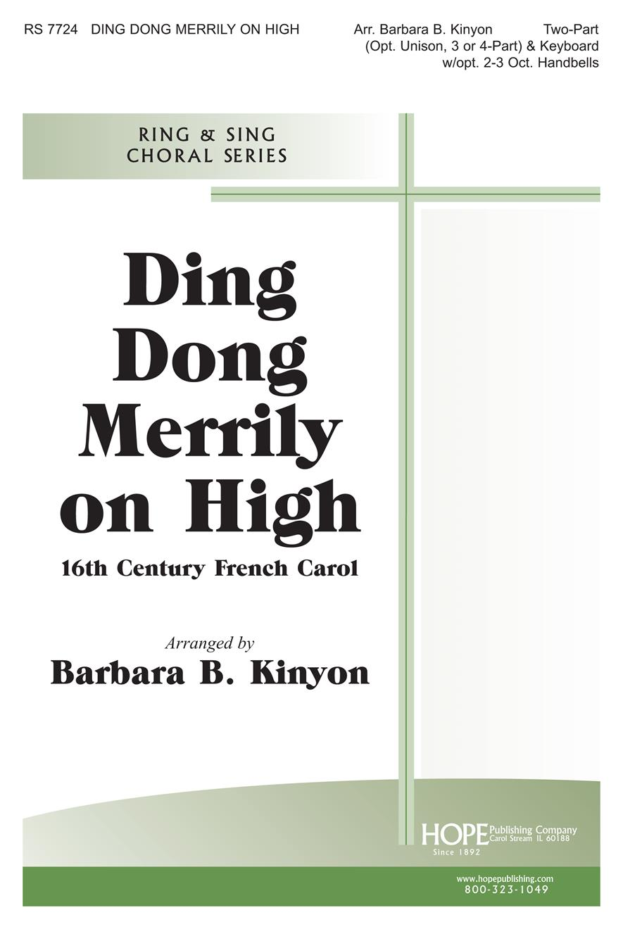 Ding Dong Merrily on High - Two-Part Cover Image